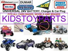 24V Volt Conversion Kit UPGRADE ALL 12V Cars/Trucks  (Battery, Charger & Plug)