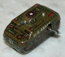 Vintage Wind Up U.S. Army Tank Toy - Made in Japan - Tin Wind Up Tank Toy