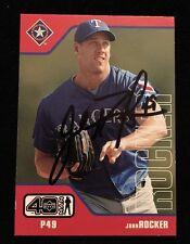 JOHN ROCKER 2002 UPPER DECK Autograph Signed AUTO Baseball Card 237 RANGERS