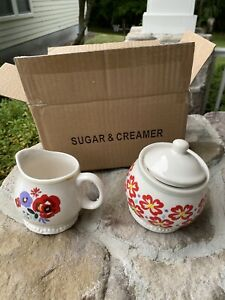 Pioneer Woman Sugar And Creamer  Brand New Never Been Used