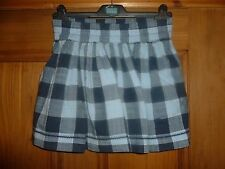 ABERCROMBIE & FITCH - Blue Checked Skirt - Size X Small
