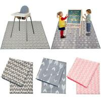 No Mess Floor Mat Baby High Chair Feeding Floor Mat Splash Messy Play Painting