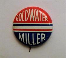 1964 Barry Goldwater William Miller U.S. Presidential Campaign Pinback Button
