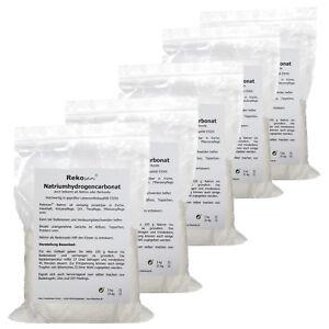5x 1 kg Rekosan Natron Natriumhydrogencarbonat Backsoda Lebensmittel E500ii