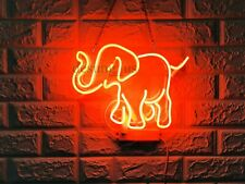 "New Elephant Neon Light Sign 14"" Lamp Beer Pub Acrylic Real Glass Gift Handmade"