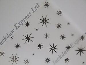 Vellum Printed A4 110gsm Translucent Paper - Black 8 Pointed Star Design JLH5