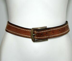 Diesel Tan Coloured Genuine Leather Women's Waist Belt Size 81cm-102cm