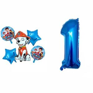 Paw Patrol 6pcs Foil Balloons  Party Supplies, Decorations.