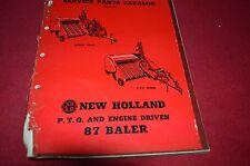 New Holland 87 Hay Baler Dealer's Parts Book Manual RWPA