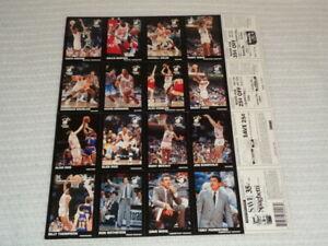 1990-1991 Miami Heat Bumble Bee Rare Original NBA Basketball Uncut Card Sheet