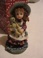 Little Girl Standing With a Teddy Bear Figurine, by Montefiori Designs (GS13-10)