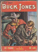 SUPER WEST BUCK JONES  n.    6  ed. Dardo 1963  -  buono