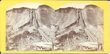 Andrew Russell Stereoview – Hydraulic Gold Mining Calif  Union Pacific RR  c1870