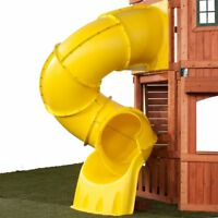 Playground Turbo Tube Slide Spiral Green or Yellow suits 1500mm deck Cubby House