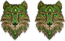 Abstract Art Wolf Head Sticker Decal Car Truck Psychedelic Tiger Animal Windows