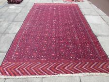 Fine Vintage Traditional Hand Made Afghan Oriental Red Wool SomaK Kilim 338x204