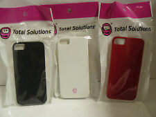 (Lot of 50).50c ea iPhone SE/5/5S Soft Touch Feel Hard Covers Black-White-Red