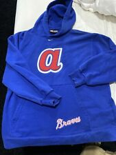 Nike Atlanta Braves Cooperstown Collection Hoodie Sweatshirt Large