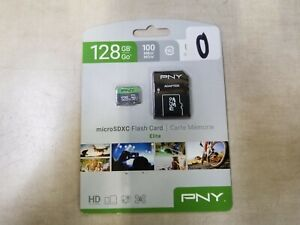 PNY MicroSDXC Flash Card Elite 128 GB 100 MB/s UHS-1