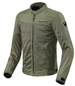 Rev'it Sommerliche Motorrad Textiljacke Eclipse in dunkelgrün / olive Größe XYL