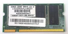 USI 256MB PC-2700S DDR 1066MHz Laptop Memory U30256AAUII6520