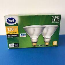 Great Value PAR38 120 Watt LED Flood Light Bulbs Non Dimmable 2-count