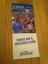 2015 Boston Marathon Course Mappa & Modellini Spettatori Subbuteo Guida John