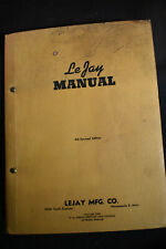 1943 Lejay Manual POWER PLANT MODEL T GENERATOR scooter 110 volts electrical