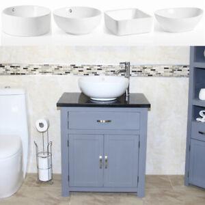 Bathroom Vanity Unit | Grey Painted Black Quartz Top | Basin Tap, Plug Option