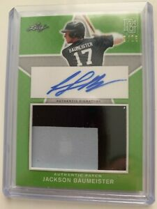 JACKSON BAUMEISTER 2020 Leaf Perfect Game Baseball AUTO Jersey GU RC #'d/25
