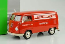 1963 Volkswagen VW T1 Bus Porsche Renndienst rot 1:18 Welly