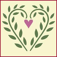 HEART RING BEARER PILLOW STENCIL  - DIY WEDDING - The Artful Stencil