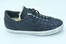 Scarpa uomo philippe model firmata pelle blu pelliccia interna shoes