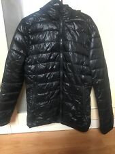 Men's H&M Puffer Coat Jacket In Black - Small