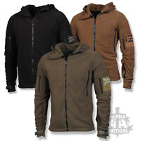TACTICAL FLEECE HOODIE MILITARY SPECIAL FORCES JACKET WITH UNION FLAG PATCH