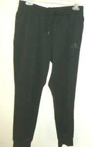 Adidas Black Climawarm Elastic Waist Pull On Polyester Jogger Pants Women's L