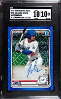 2020 Bowman Chrome Jacob Amaya Blue Mojo Auto /150 SGC 10 GEM MINT Comp To PSA