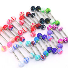 30 X PREMIUM Tongue Tounge Rings BARS PIERCING JEWELRY LZP