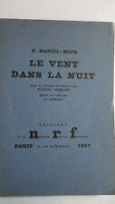 DANIEL-ROPS Le vent dans la nuit   ex. sur vergé