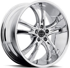 "20"" ASANTI BLACK LABEL ABL 6 WHEELS MERCEDES C CL CLK S SL E CHROME"