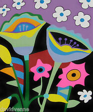 Abstract Flowers 10 x 12 inch Needlepoint Canvas