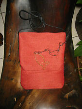 Red with Copper Fish Passport Bag