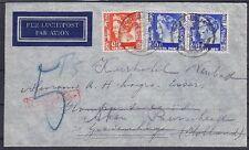 Niederl. Indien Mi Nr. 194, 215 MiF auf Lupo Brief, gel. Soerabaia - Aken 1936