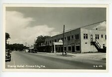 Diana Hotel -Cross City FL- Rare RPPC Photo Coca Cola Sign Dixie Co 1940s