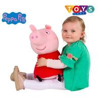 New Peppa Pig Talking Toy Soft Plush Toys Kids Large Pepa Figure Red Dress Doll