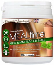 MEALtime Meal Replacement 300g (Choc-Mint)- Dairy and Gluten-Free Protein Powder