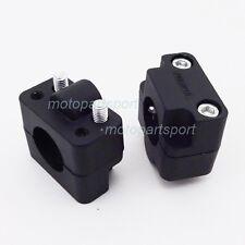 Handlebar Clamp Riser Taper Black For ATV Honda XR50 CRF50 Dirt Bike Motorcycle