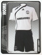 102 HOME KIT ENGLAND DERBY COUNTY STICKER FL CHAMPIONSHIP 2010 PANINI