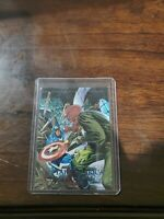 1992 Marvel Masterpieces Battle Spectra  Foil 5-D Captain America vs Red Skrull