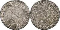 Ostpreussen Königsberg Groschen 1540 Albrecht von Brandenburg #K219